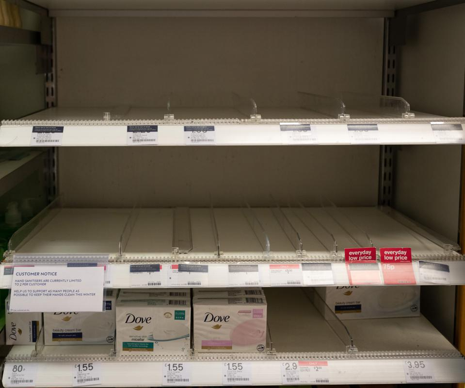 Boots in UK runs out of hand sanitizer