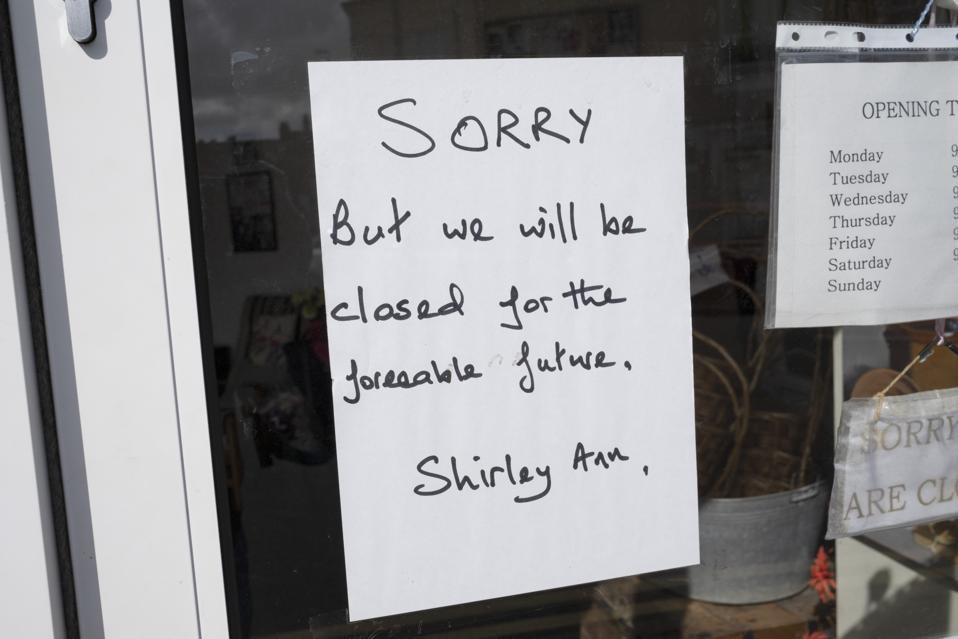 Coronavirus Closed Business Signs In Birmingham