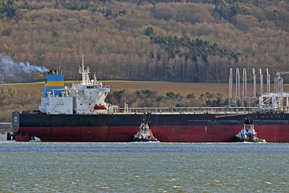 A Tanker Berths In The Forth As Oil Market Uncertainty Continues
