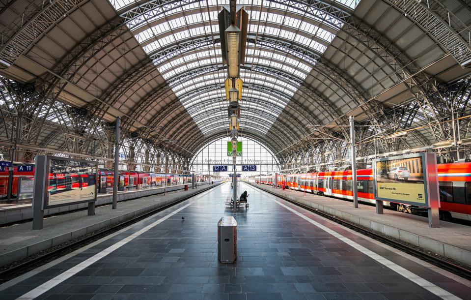 Coronavirus - Central Station Frankfurt am Main