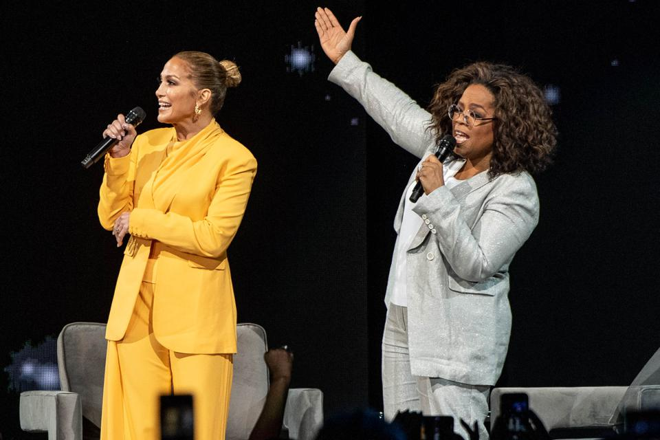 Oprah's 2020 Vision, Jennifer Lopez, gratitude, family, support, confidence, talent