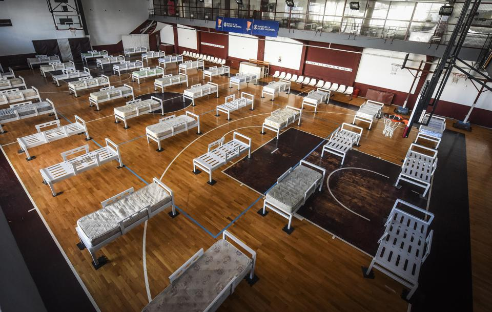 Argentine Football Club Hosts Emergency Hospital in Its Premises