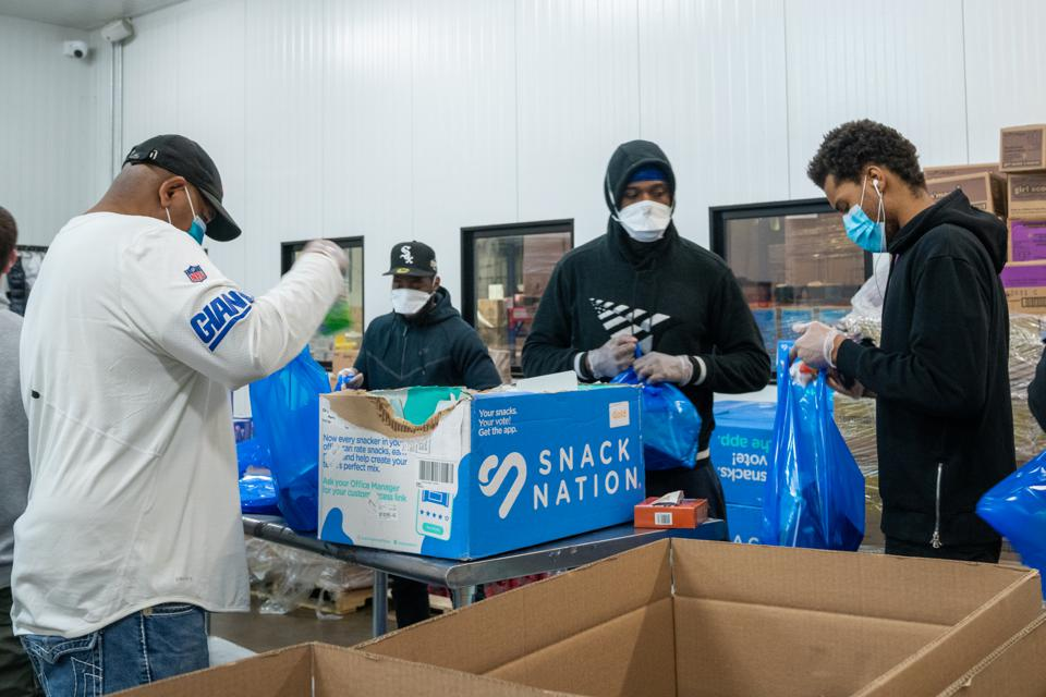 Food Bank For New York City Prepares Food For Delivery To Hospitals