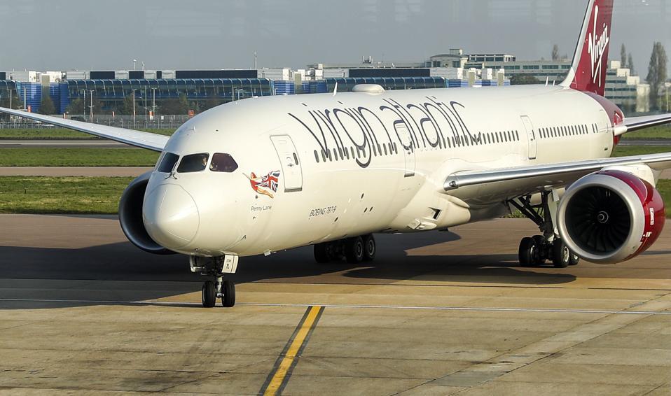 Coronavirus COVID-19 Virgin Atlantic 787 Dreamliner