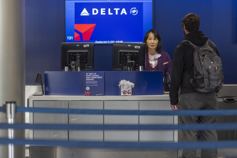 LAX Airport Coronavirus Pandemic Delta social distancing measures onboard