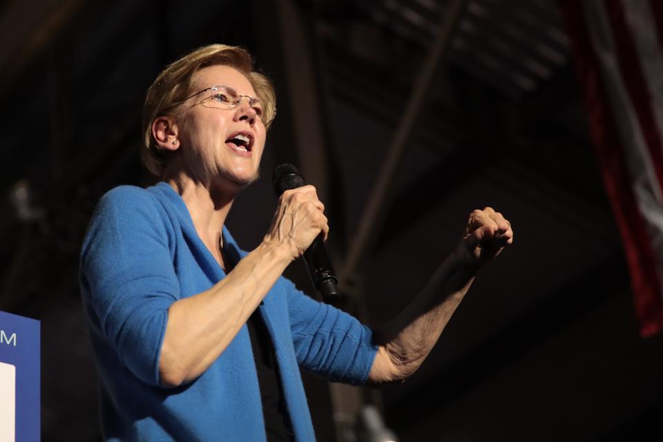 Democratic Presidential Candidate Elizabeth Warren Holds Super Tuesday Night Event In Detroit