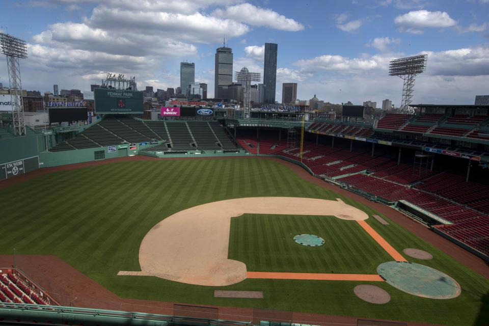Empty Fenway Park During Pandemic