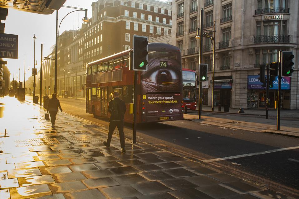 Early Morning In Oxford Street During The Coronovirus Lockdown