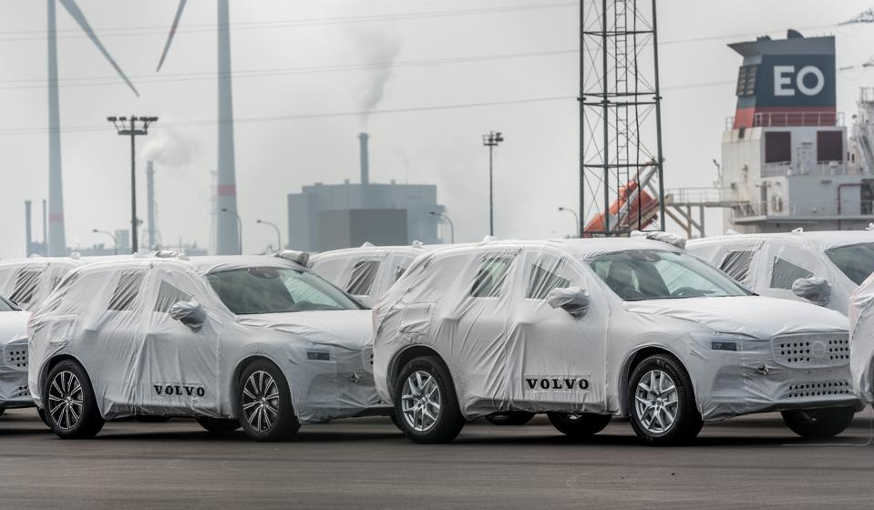 The Volvo cars plant in Gent, Belgium which started production again last month, along with the Torslanda plant in Sweden