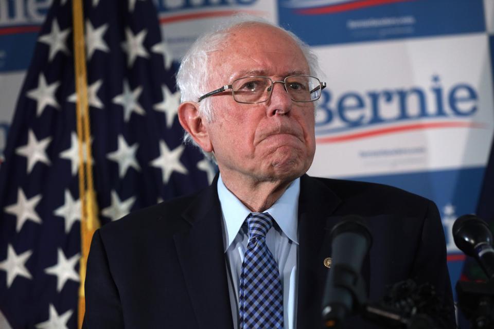 Presidential Candidate Bernie Sanders Holds Press Briefing In Vermont