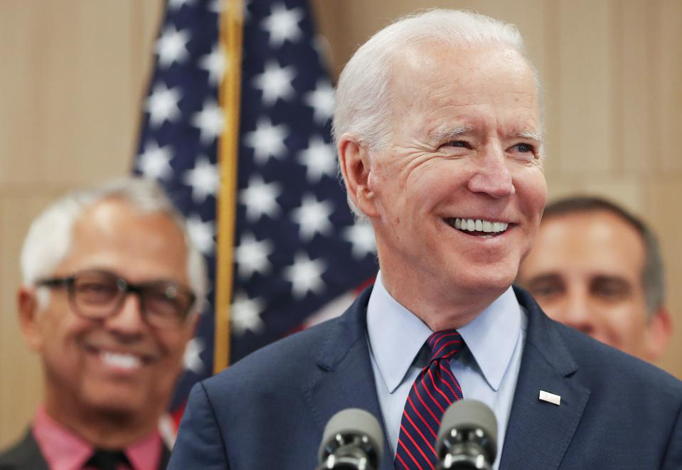 Democratic Presidential Candidate Joe Biden Campaigns In Los Angeles Day After His Big Super Tuesday Wins