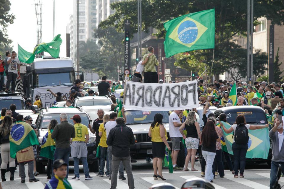 Manifestations Pro-Bolsonaro In Sao Paulo