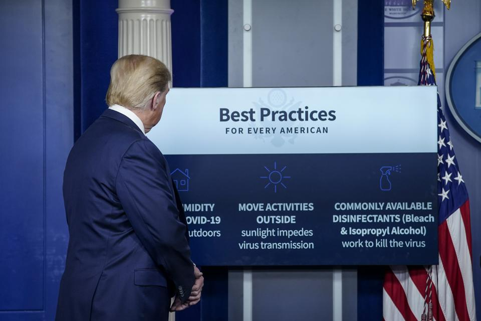 The White House Holds Daily Briefing On Coronavirus Pandemic