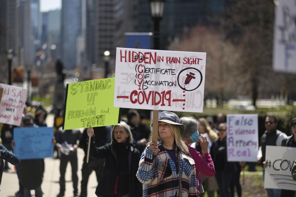 Anti Shutdown Rally In Toronto