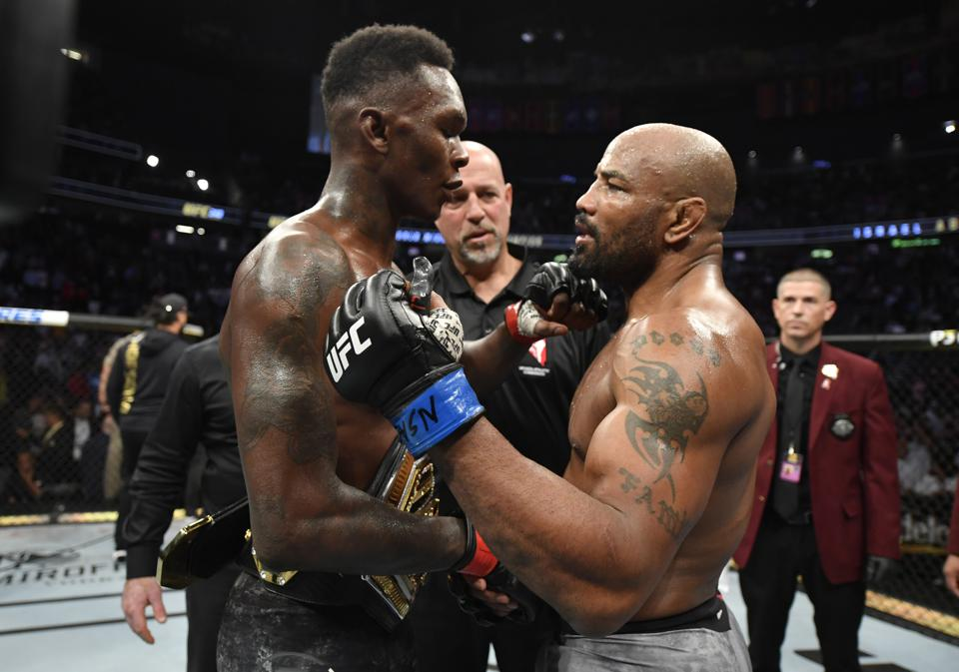 Israel Adesanya defeated Yoel Romero in the main event of last night's UFC 248