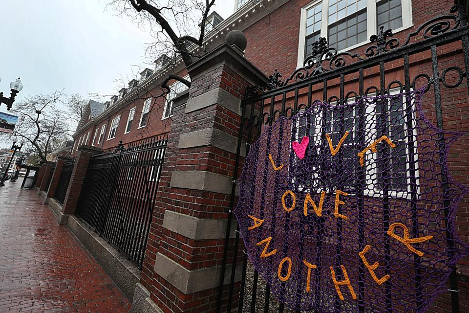 Empty Harvard Campus