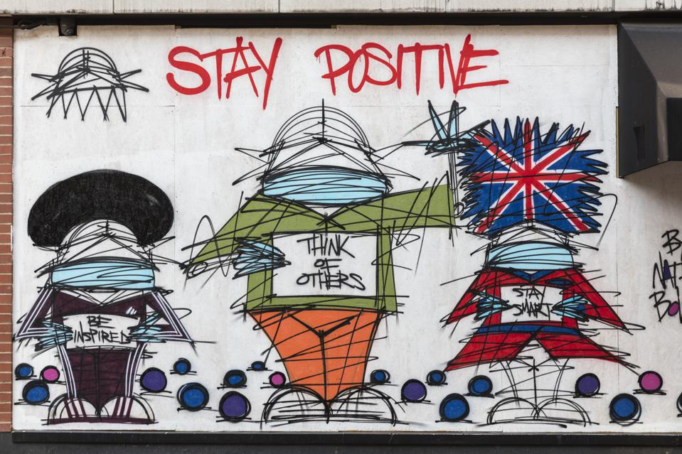 Painting On A Boarded Up London Shop To Support NHS Workers