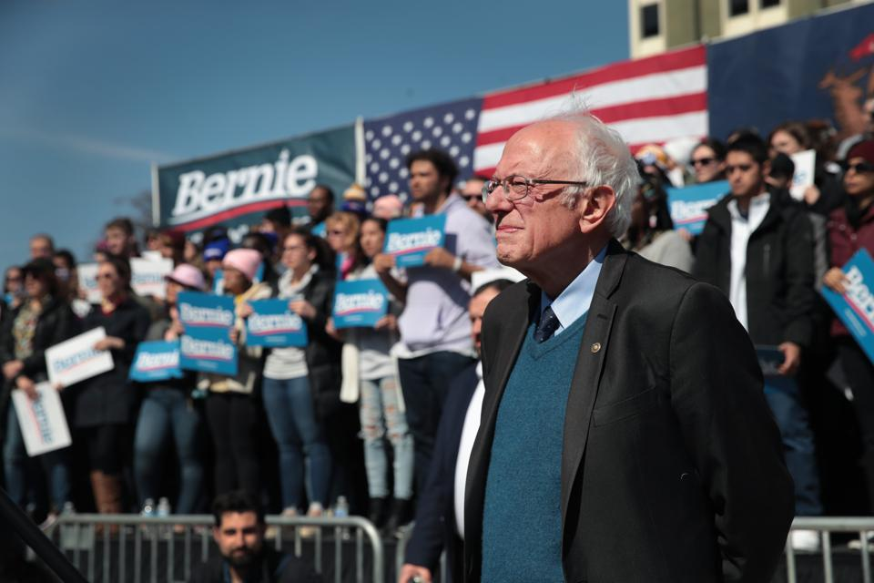 Democratic Presidential Candidate Bernie Sanders Holds Rally In Grand Rapids, Michigan