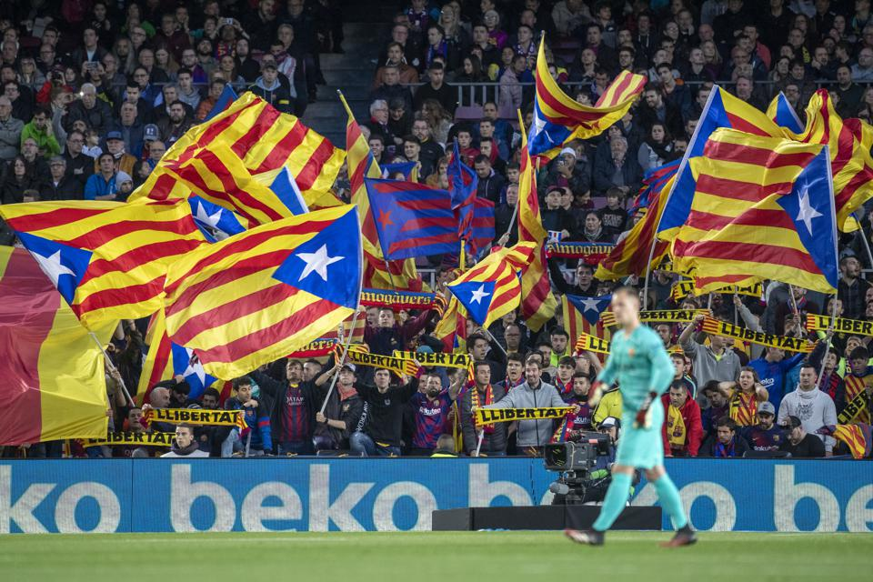 Catalonia's government wants Barcelona and Napoli's Champions League tie behind closed doors