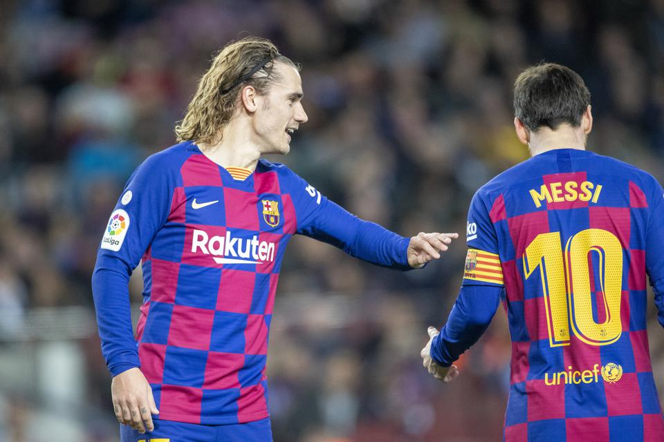 Antoine Griezmann has had a troubled relationship with Lionel Messi at FC Barcelona.