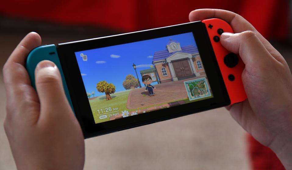 Nintendo's Animal Crossing being played on Nintendo Switch.