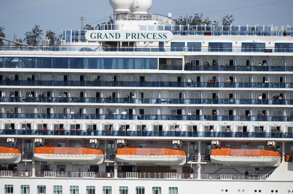 Grand Princess Cruise Ship Arrives in Oakland
