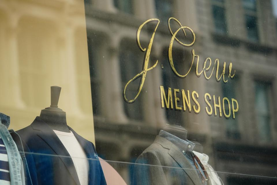 A J. Crew Mens Shop in New York.