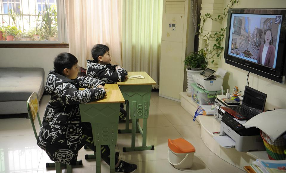 Students Have Online Classes In Meishan