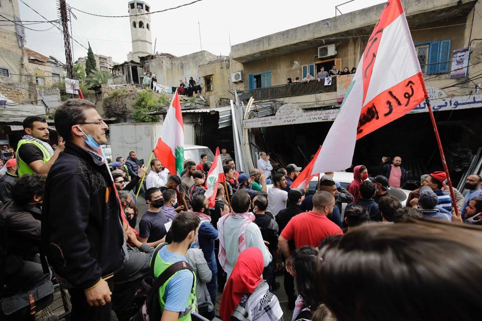 LEBANON-POLITICS-DEMO-HEALTH-VIRUS
