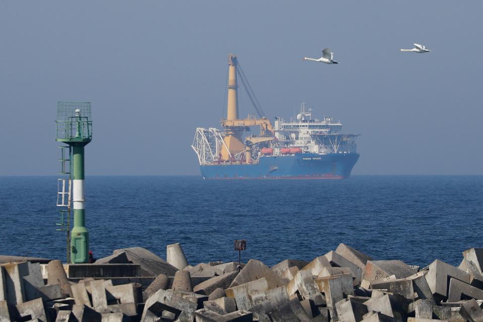 Akademik Chersky pipelay vessel arrives in Kaliningrad, Russia
