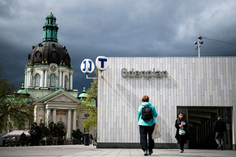 SWEDEN-HEALTH-VIRUS coronavirus covid-19 stockholm odenplan