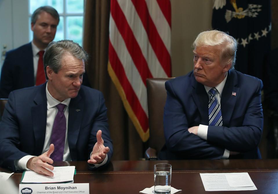President Trump Meets With Bankers On Coronavirus Response