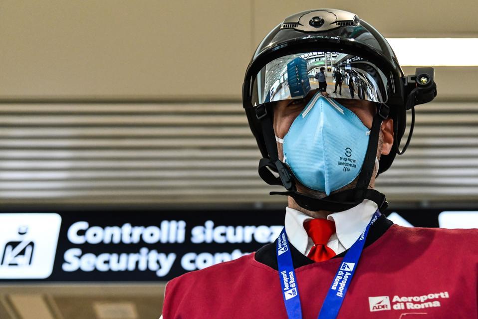 ITALY-HEALTH-VIRUS-SMART-HELMET covid-19 coronavirus airport