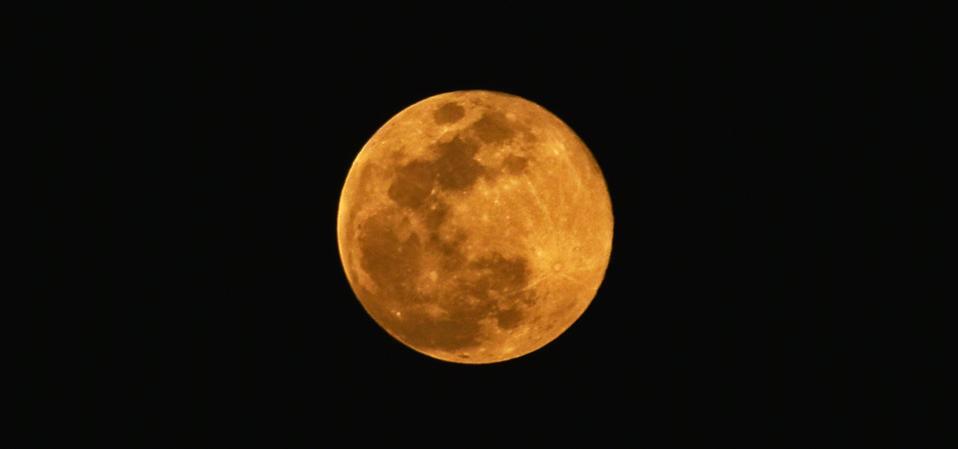 A full Moon from Kolkata, India, 7 May, 2020.      (Photo by Indranil Aditya/NurPhoto via Getty Images)