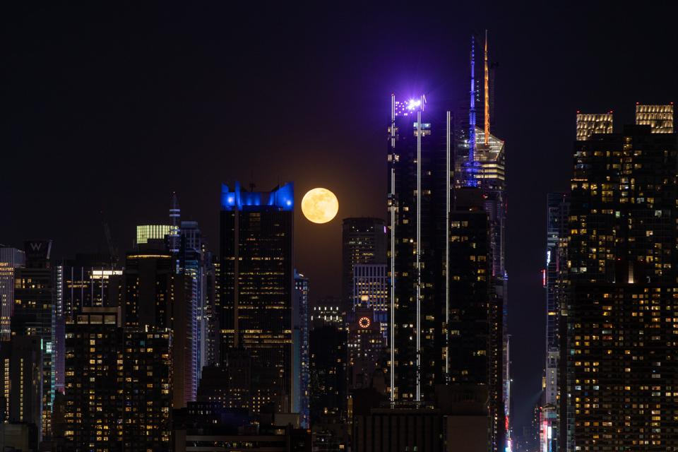 First full moon of the month in New York City