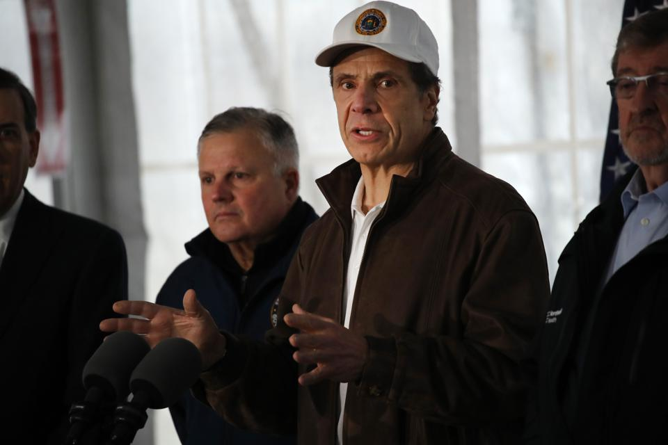 New York Gov. Cuomo Opens Coronavirus Testing Area In New Rochelle Park