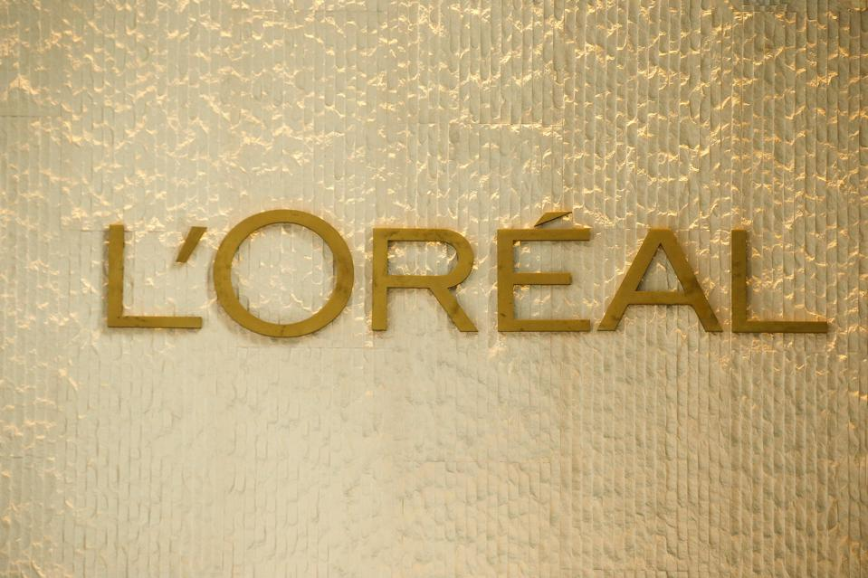 L'Oreal logo is seen on one of their branches...