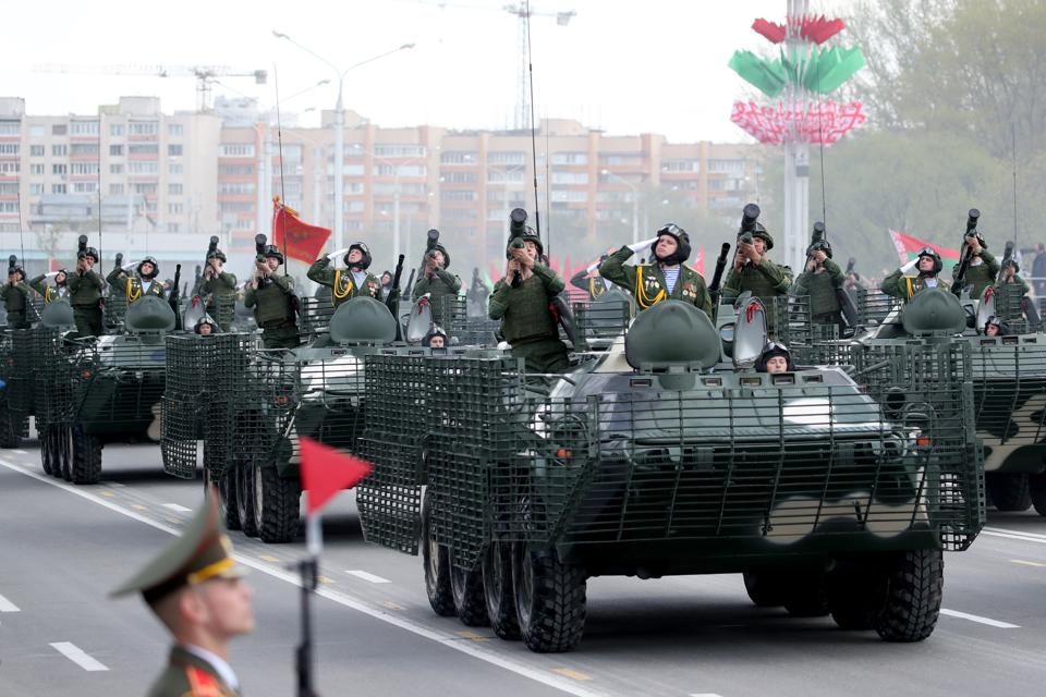 Victory Day military parade in Minsk, Belarus