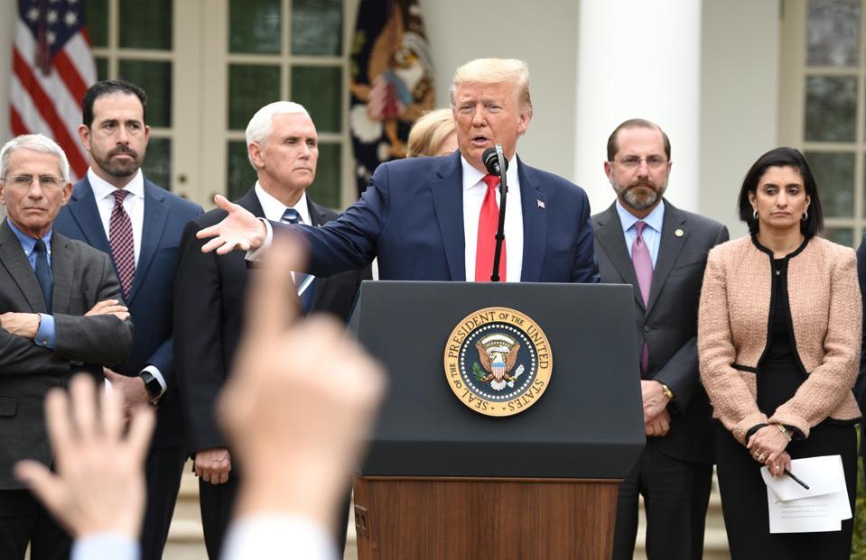 President Trump Declares National Emergency In Coronavirus Fight