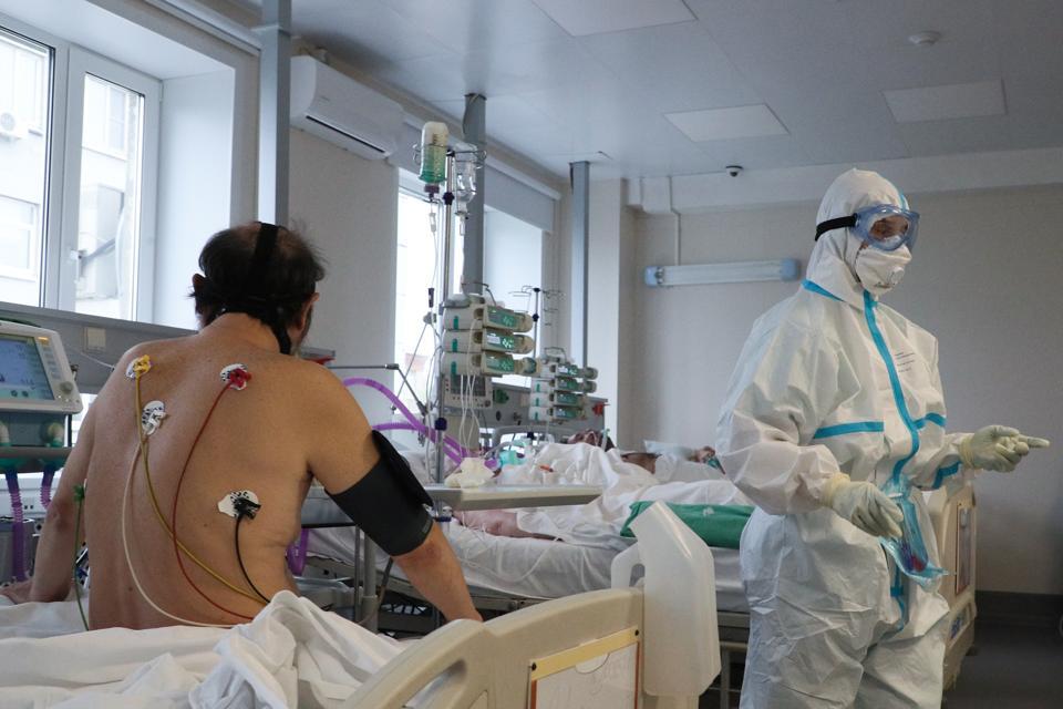 COVID-19 inpatient facility at Moscow's Spasokukotsky hospital