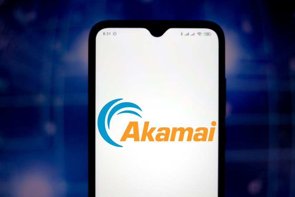 In this photo illustration the Akamai Technologie logo seen...