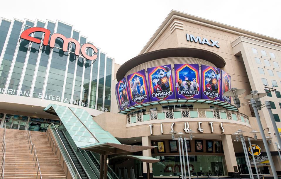 Outside view of closed AMC Theater, amid coronavirus pandemic US-HEALTH-VIRUS-THEATER