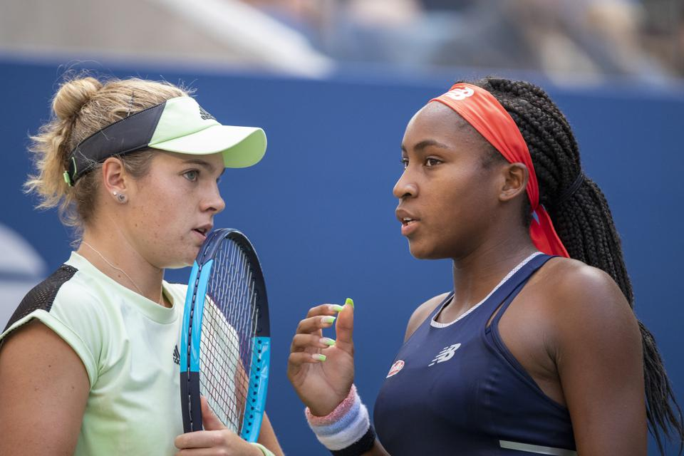 Caty McNally and Coco Gauff @ US Open Tennis Tournament 2019