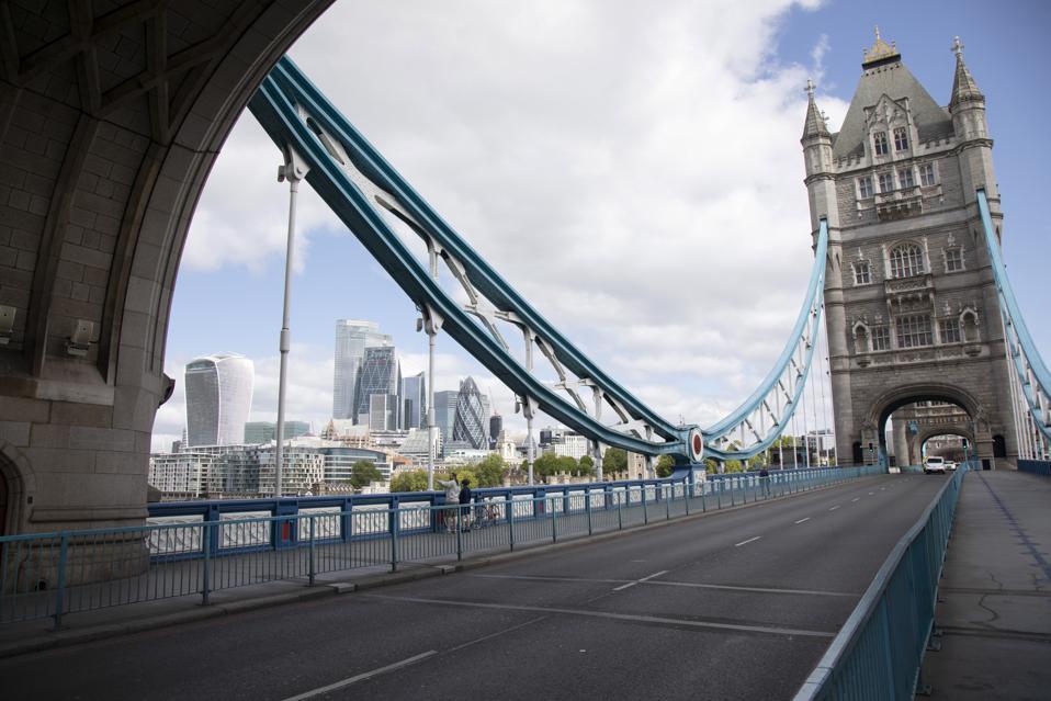Coronavirus Tower Bridge In London