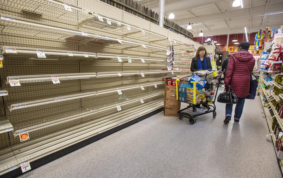 Consumers are confronted with empty food shelves during the coronavirus crisis.