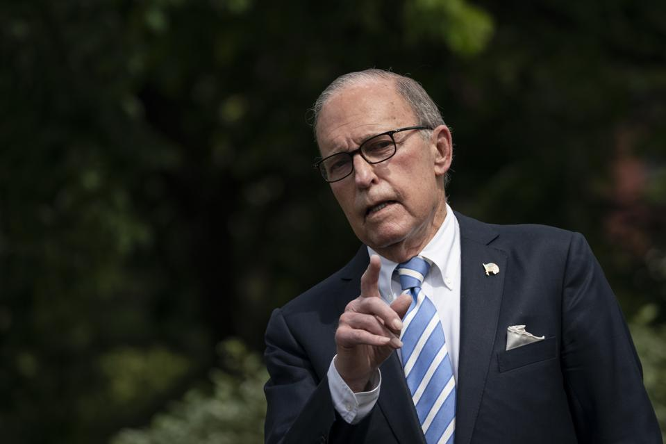 White House Economic Adviser Larry Kudlow Speaks To Reporters At The White House