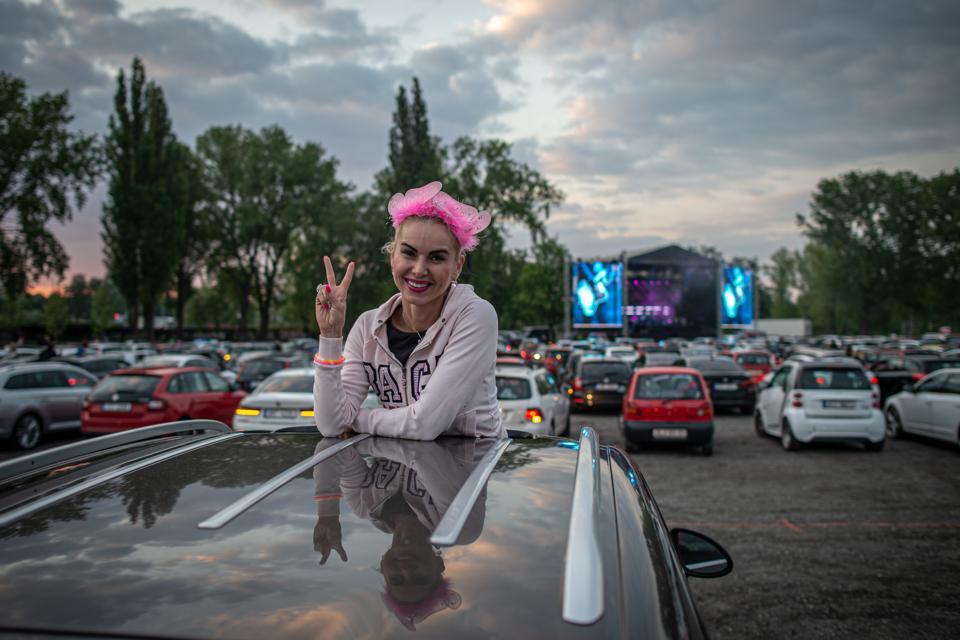 Drive-in concert in the Czech Republic