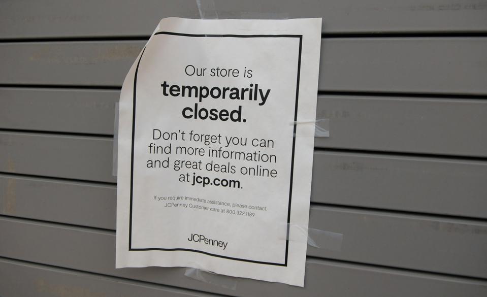 J. C Penney coronavirus retail