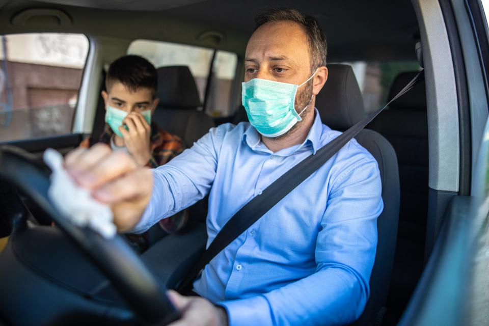 Protection against viruses in the car
