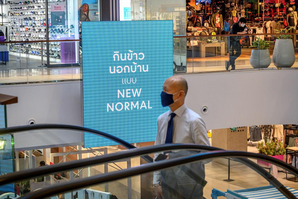 Bangkok's CentralWorld ″New Normal″ shopping campaign to educate visitors of new social distancing practices whilst shopping